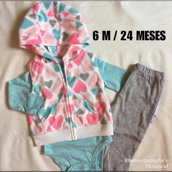 Carters Set Niña Suéter Body Monito 6 Meses Conjunto