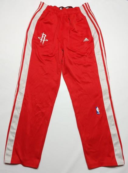 Pantalón adidas Houston Rockets Nba Talle M Rojo Y Blanco