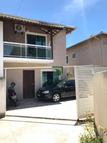 Rio Litoral Imóveis Oferece Para Venda, Excelente Casa Duplex No Bairro Jardim Marileia Em Rio Das Ostras! - Ca1157