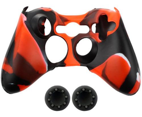 Forro Silicona Camuflado Grips Gratis Control Xbox 360