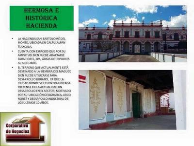 Hacienda Con 60 Has De Tierra. Ideal, Hermosa E Histórica