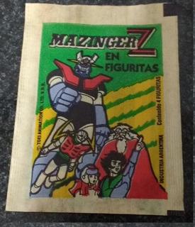 Viejo Sobre Lleno Figuritas Robot Mazinger Z 1986 Retro