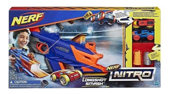 Pistola Nerf Nitro Longshot Smash Lanza Autos Original
