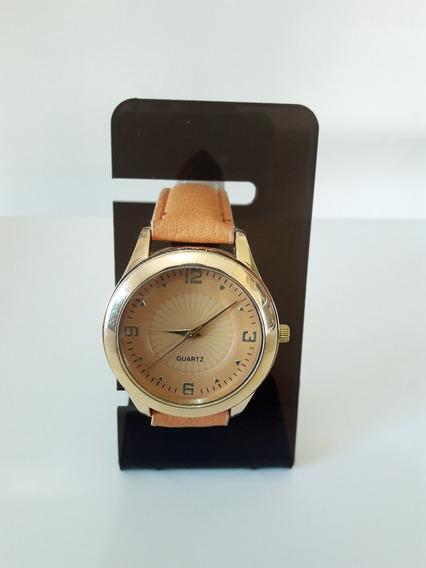 Relógio Quartz Feminino Dourado ( Fotos Reais Do Produto)
