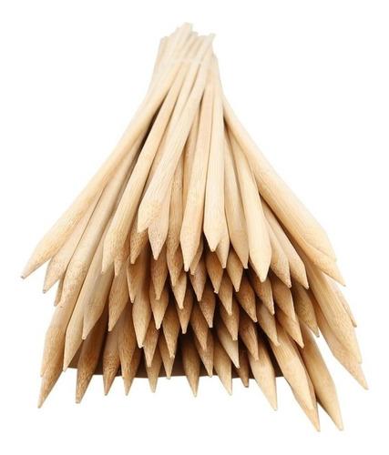 Imagem 1 de 1 de Espetos De Bambu Para Churrasco 25cm - 300 Unidades