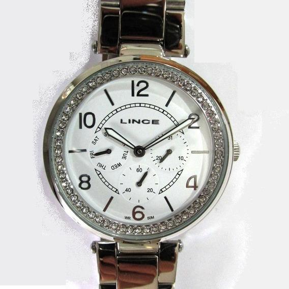 Relógio Lince Feminino Aço Multifunção Lmmj068l B2sx