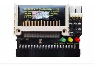 10 Adaptador Ide Cf Cartão Memória Compact Flash 40-pin