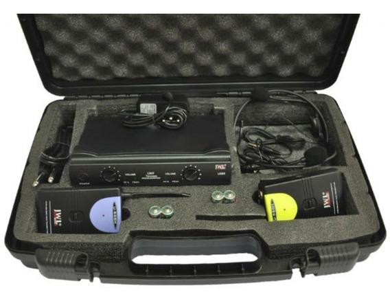 2 Headset Microfone S/ Fio Duplo Jwl U 585-hh Como Shure
