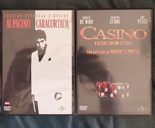Casino 2dvd + Scarface 2dvd Edic Especial Al Pacino De Niro