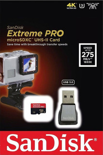 Cartão Micro Sdxc Extreme Pro 128gb Uhs-ii + Leitor