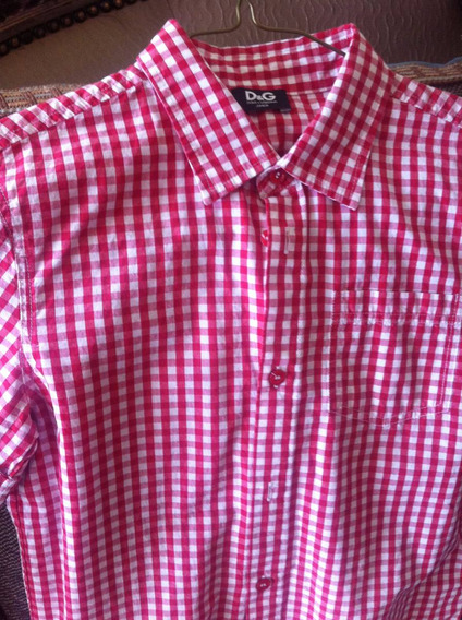Camisa D&g Cuadros Niño