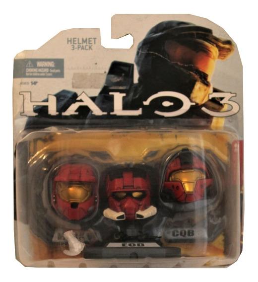 Halo 3 Set De 3 Minicascos Coleccionables Team Red