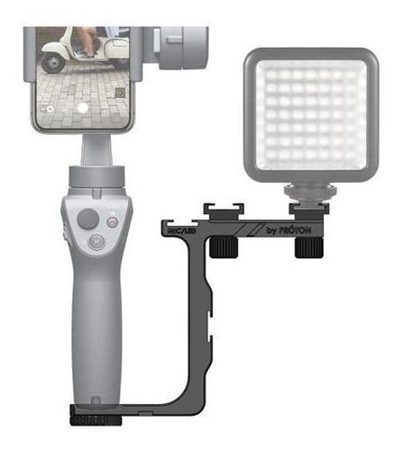 Suporte Para Iluminador E Microfone Na Dji Osmo Mobile 2