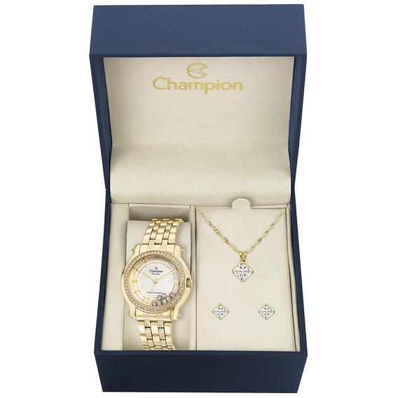 Kit Relógio Champion Feminino - Cn29785w