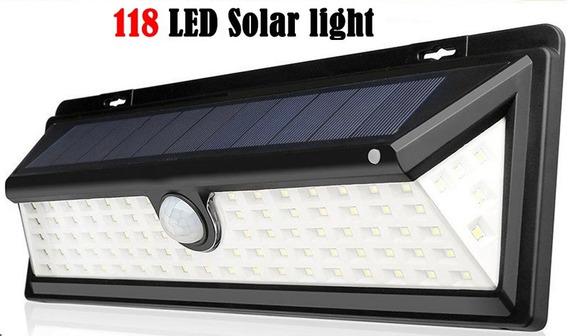 2 X Luminária Solar 118 Leds