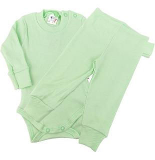 Roupa Bebê Conjunto Body E Calça Luva E Pezinho Reversível