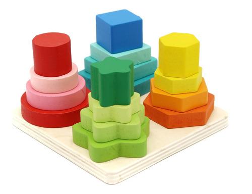 Juego De Encaje De Figuras Geométricas