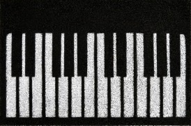 Tapete Capacho Personalizado Piano Pianinho