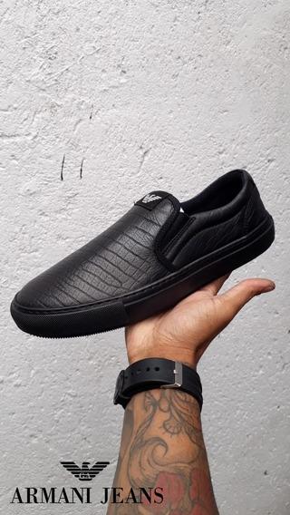Tênis Sapatênis Slip On Armani Jeans Black Friday 2019