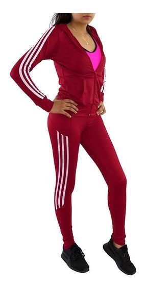 Pants Dama Conjunto Mujer Sudadera Con Gorro Color Rojo