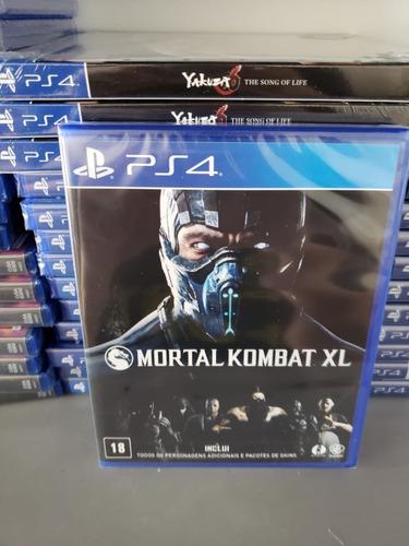 Ps4 Mortal Kombat Xl Mídia Física Novo Lacrado - Dublado Em Português