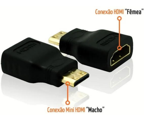 Adaptador Mini Hdmi Macho X Hdmi Fêmea