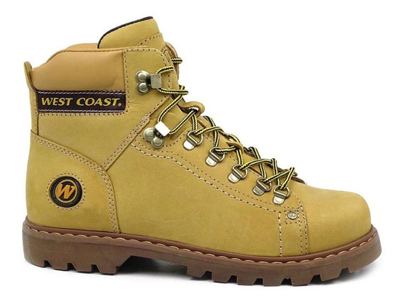 Bota West Coast Worker Classic Couro Camel