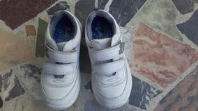 Zapatos Colegial Escolar Blancos Deportivos Usados Talla 34