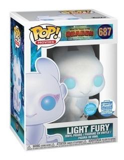 Muñeco Funko Pop 687 Light Fury Como Entrenar A Tu Dragón