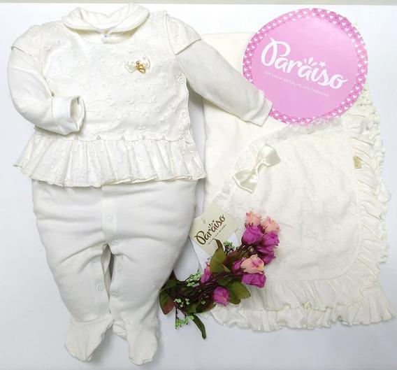 Saida Maternidade Luxo Paraiso Bebe Menina Batizado Cod 8482