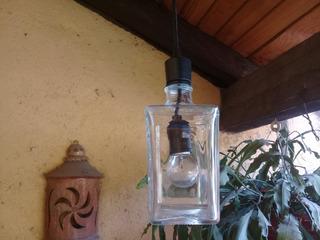 Lámpara Colgante De Botella Reciclada.