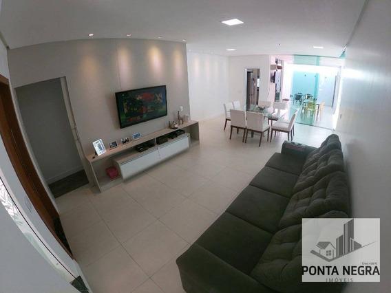 Casa Terrea Com 3 Dormitórios À Venda, 170 M² - Ponta Negra - Manaus/am - Ca0086