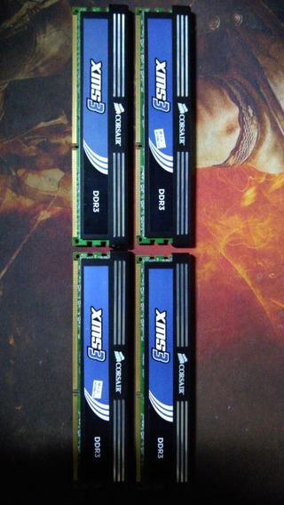 Kit 4x2gb 8gb Memória Ram Ddr3 1600 Corsair Xms 3 Intel/amd