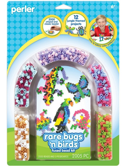 80-55997 Perler Rare Bugs´n Birds Fused Beads