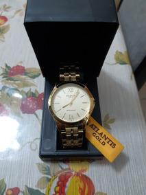 Relógio Feminino Original Atlantis Dourado - Promoção