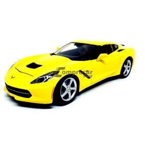 Miniatura Corvette Stingray 2014 Amarelo Maisto 1/18