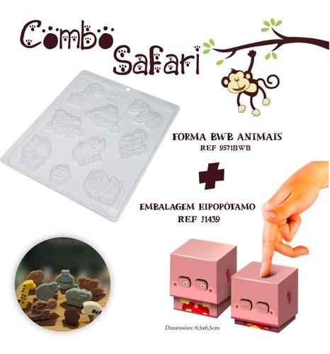 Imagem 1 de 1 de 1 Forma Bwb Safari+ 10 Caixas Hipopotamo  Dia Crianças