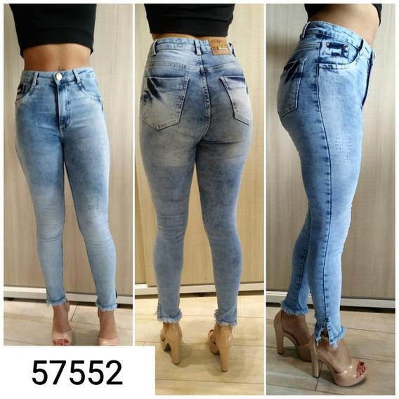 Calça Jeans Feminina Cigarrete Destroyed 57552