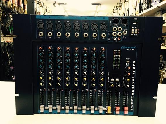 Mesa Analógica 8 Canais Oneal Omx 80 - Loja Jarbas Instrum.