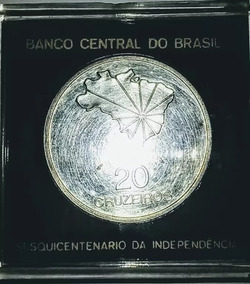 Moeda - 20 Cruzeiros 1972 Sob - Prata