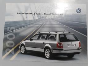 Passat Variant 1.8 Turbo 2005 Catálogo Brochura Folder