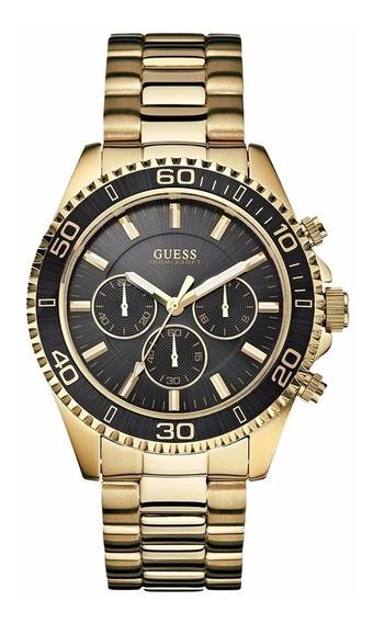 Relógio Guess Cronógrafo 92487gpgsda2 Folheado A Ouro
