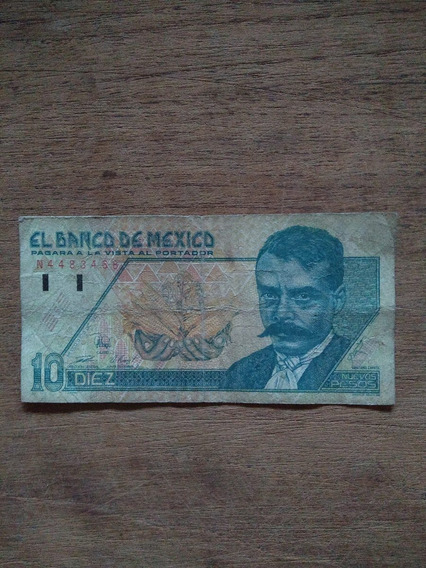 Billete De Diez Pesos Emiliano Zapata