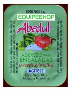 Aderezo Para Ensaladas Porción Individual Abedul Aceite Sal