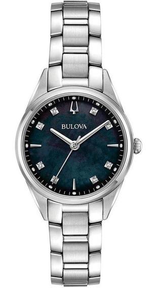 Relógio Bulova Feminino Sutton 96p198 Diamantes