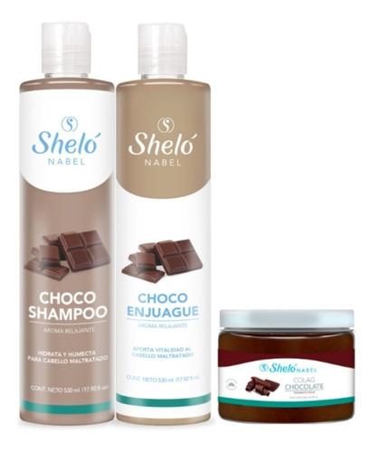 Shampoo Acondicionador Tratamiento De Chocolate Sheló Nabel