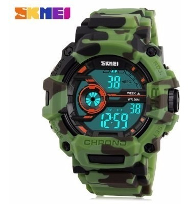 Relógio Skmei Shock Camuflado Led Digital 5atm Lançamento