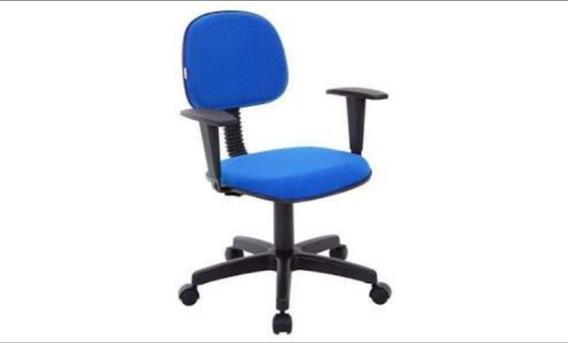02 Cadeiras Secretaria Giratória Com Par De Braços.