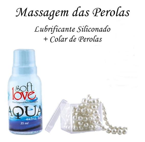 Kit Massagem Das Perolas - Silicone + Colar De Perolas