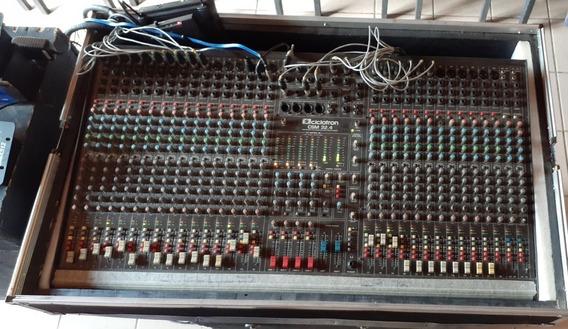 Mesa De Som Com Case Ciclotron Csm 32.4 32 Canais De Audio